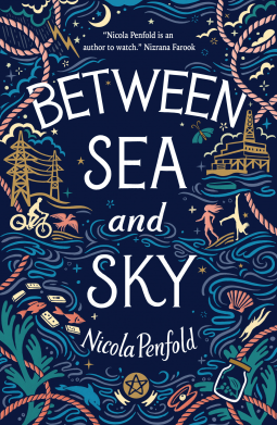 The image is of the front cover of Between Sea and Sky by Nicola Penfold