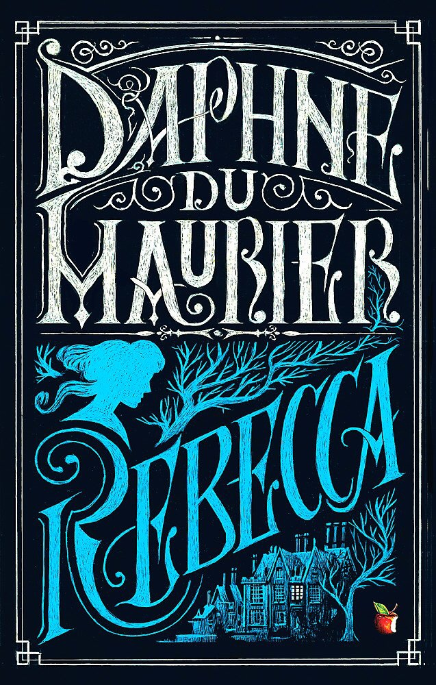 The pictures shows the front cover of 'Rebecca' by Daphne du Maurier