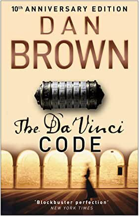 The picture shows the front cover of 'The Da Vinci Code' by Dan Brown