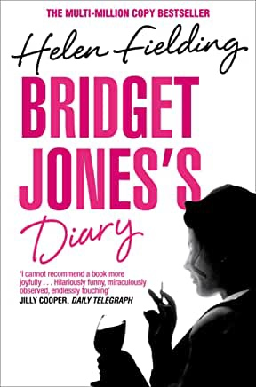 The picture shows the front cover of 'Bridget Jones's Diary' by Helen Fielding