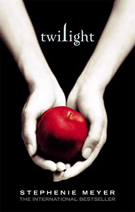 The picture shows the front cover of 'Twilight' by Stefenie Meyer