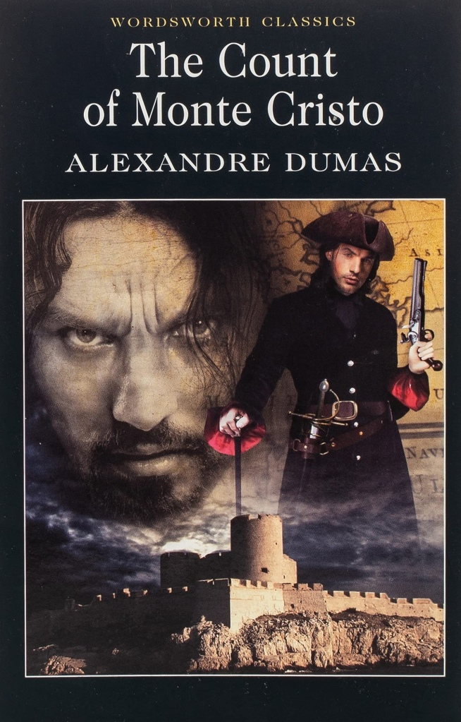 The image shows the front cover of 'The Count of Monte Cristo' by Alexandre Dumas